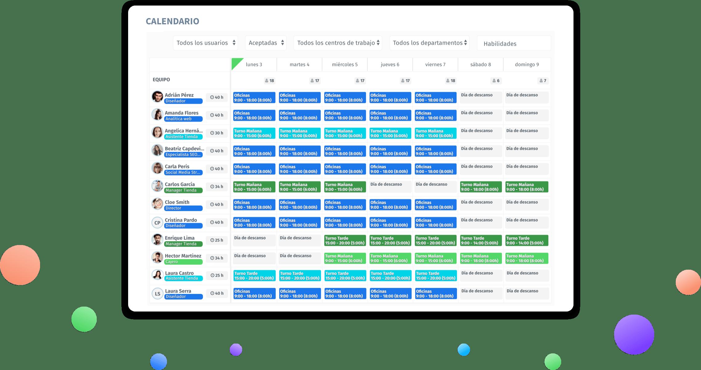 Calendario Turnos.Herramienta Online Para La Creacion Y Planificacion De Turnos