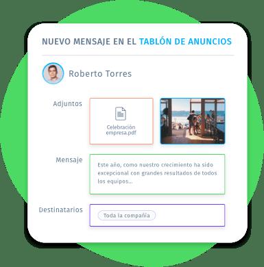 Envía anuncios individuales o de grupo, imágenes y documentos adjuntos