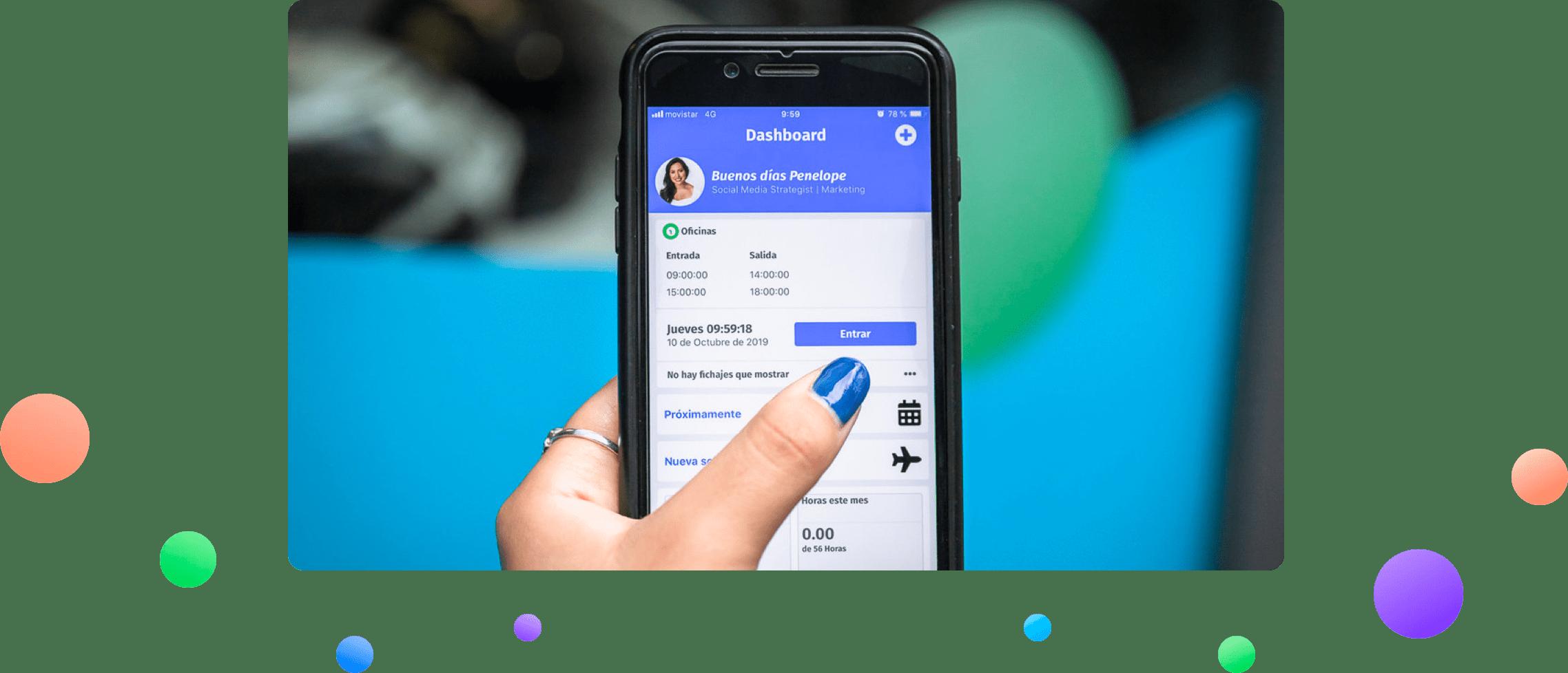 App Control horario y fichaje dashboard para fichar